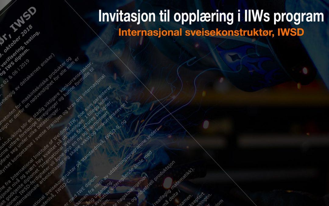 Invitasjon til opplæring i IIWs program