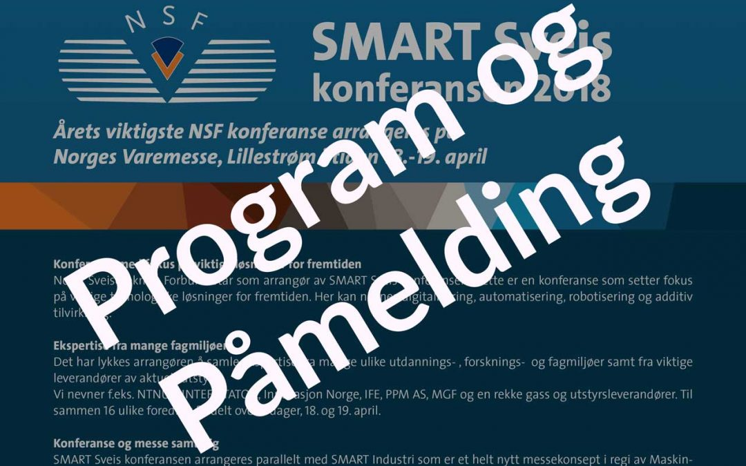 Program og Påmelding for Smart Sveis konferansen 2018