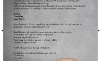 Lascentrum Norge AS søker flere medarbeidere